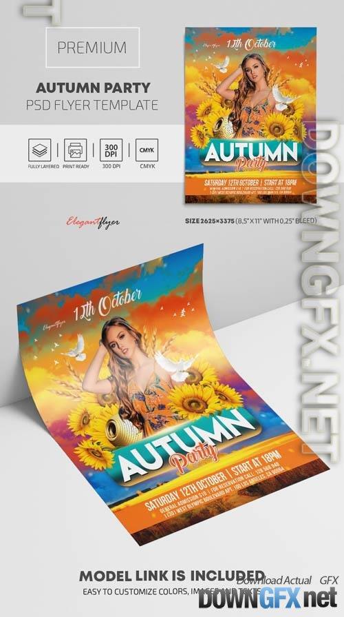 Autumn Party Premium PSD Flyer Template