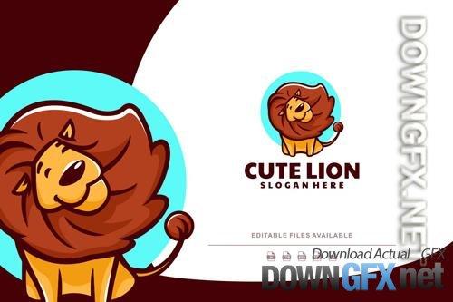 Cute Lion Cartoon Logo