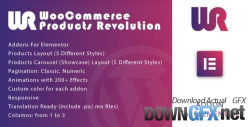 CodeCanyon - WooCommerce Products Revolution for Elementor WordPress Plugin v1.0 - 33872198