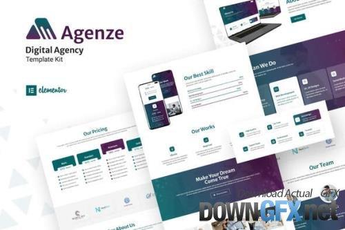 ThemeForest - Agenze v1.0.0 - The Digital Agency Elementor Template Kit - 33844581