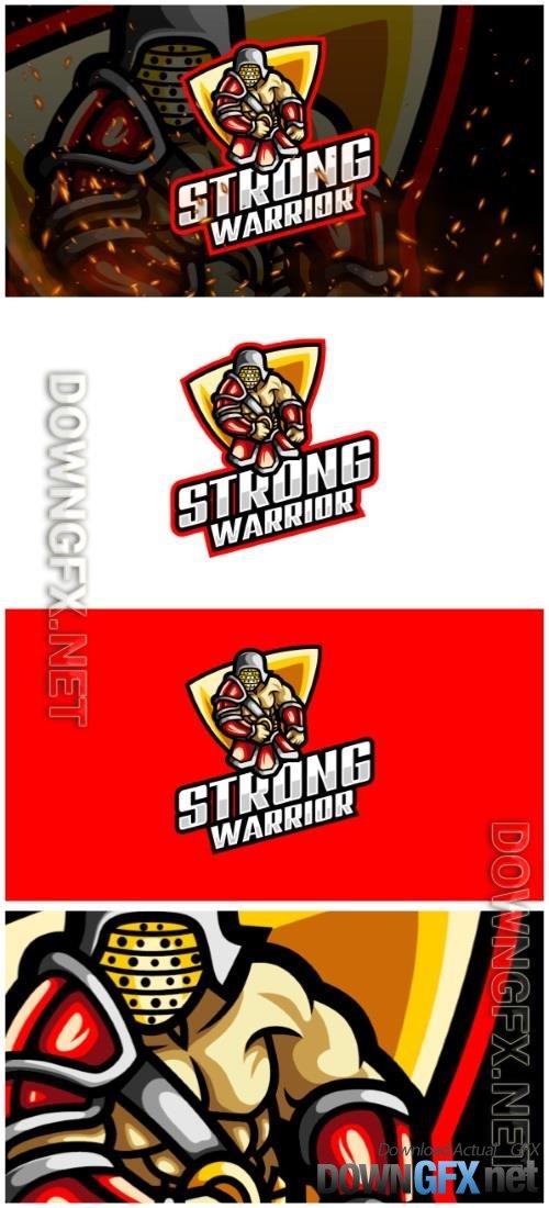 Strong Warrior E-Sport and Sport Logo Template