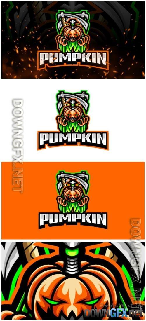 Pumpkin E-Sport and Sport Logo Template