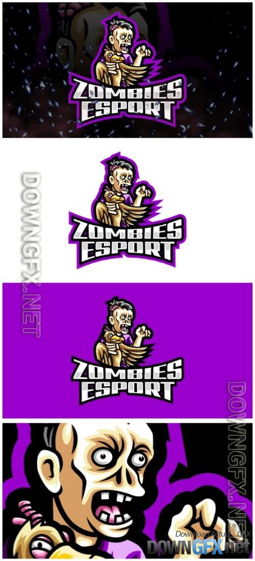 Zombies E-Sport and Sport Logo Template