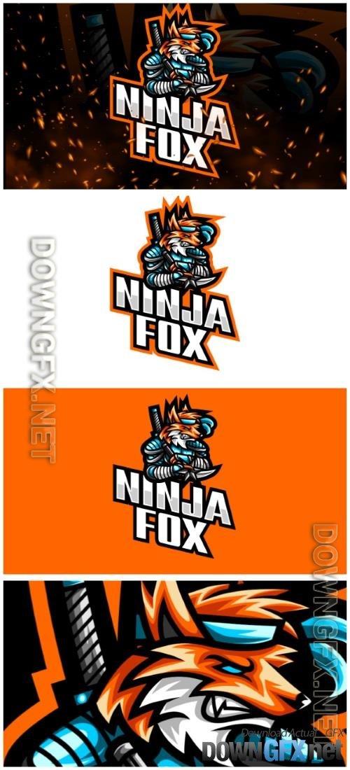 Ninja Fox E-Sport and Sport Logo Template