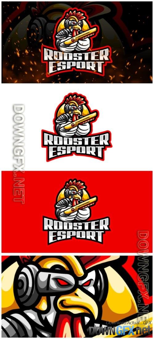 Rooster E-Sport and Sport Logo Template