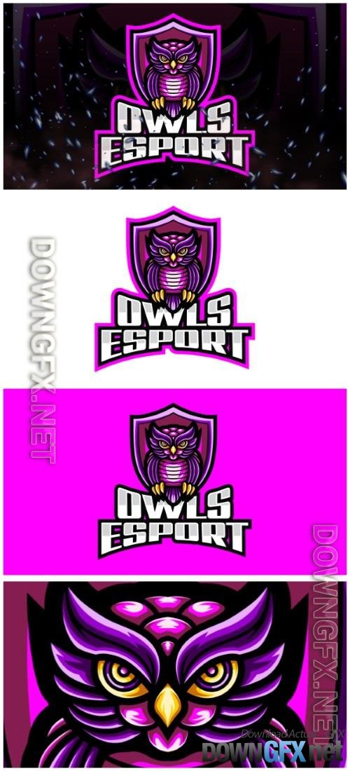 Owls E-Sport and Sport Logo Template