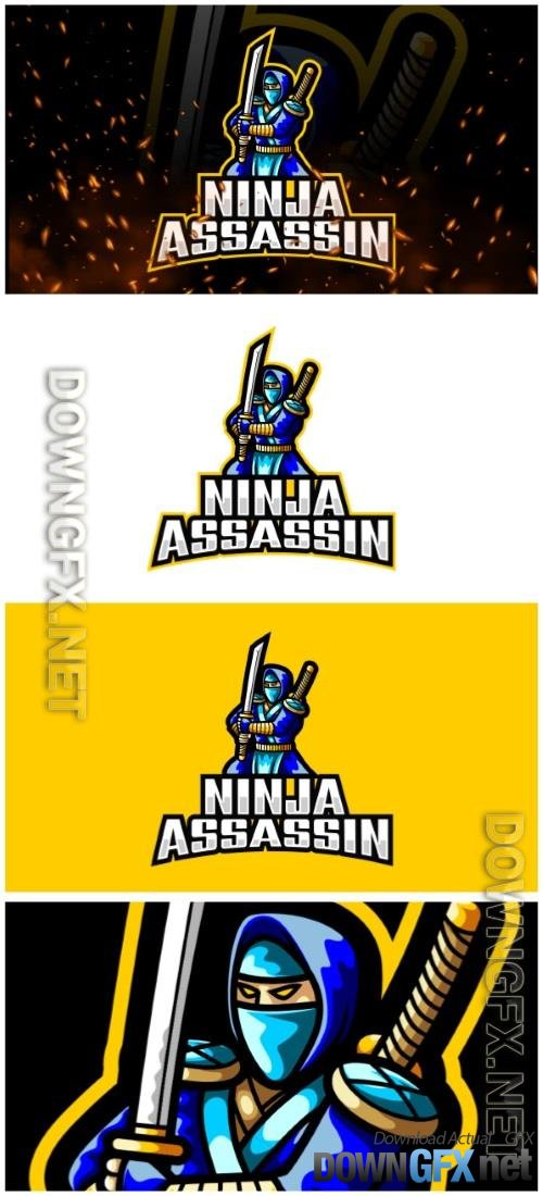 Assassin Ninja E-Sport and Sport Logo Template