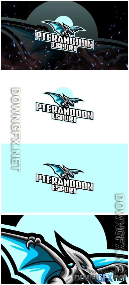 Pteranodon E-Sport and Sport Logo Template