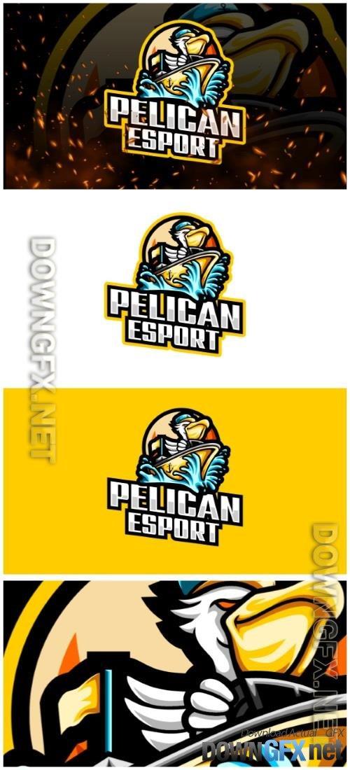 Pelican E-Sport and Sport Logo Template