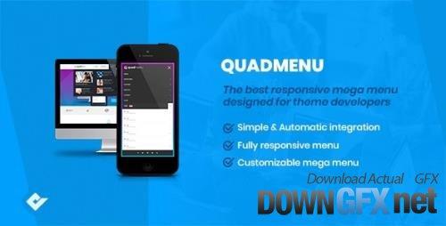 CodeCanyon - QuadMenu v1.9.3 - Themes Developer Mega Menu - 21315450