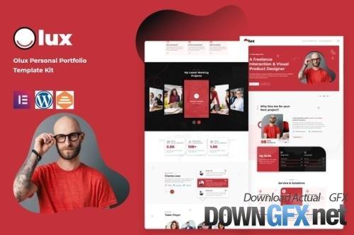 ThemeForest - Olux v1.0.0 - Creative Personal CV & Resume Portfolio Template Kit - 33829859