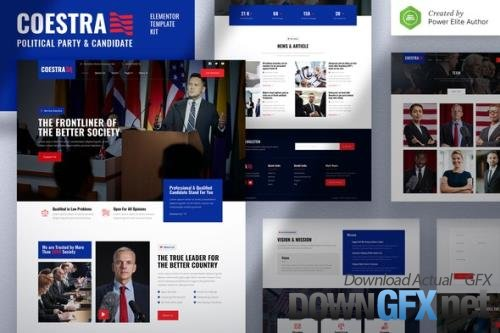 ThemeForest - Coestra v1.0.0 - Political Party & Candidate Elementor Template Kit - 33871585
