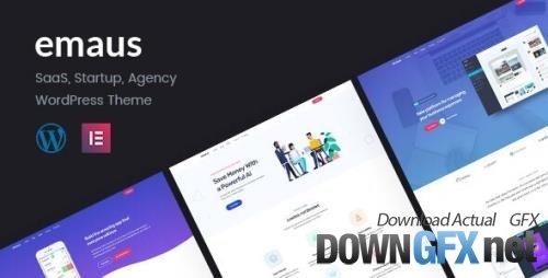 ThemeForest - Emaus v1.3.4 - SaaS App and Startup Elementor WordPress Theme - 24744912