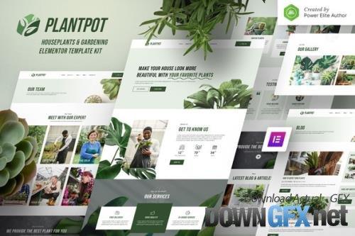 ThemeForest - Plantpot v1.0.0 - Houseplants & Gardening Elementor Template Kit - 33919140