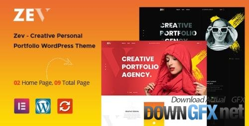 ThemeForest - Zev v1.0.5 - Creative Personal Portfolio WordPress Theme - 32538403