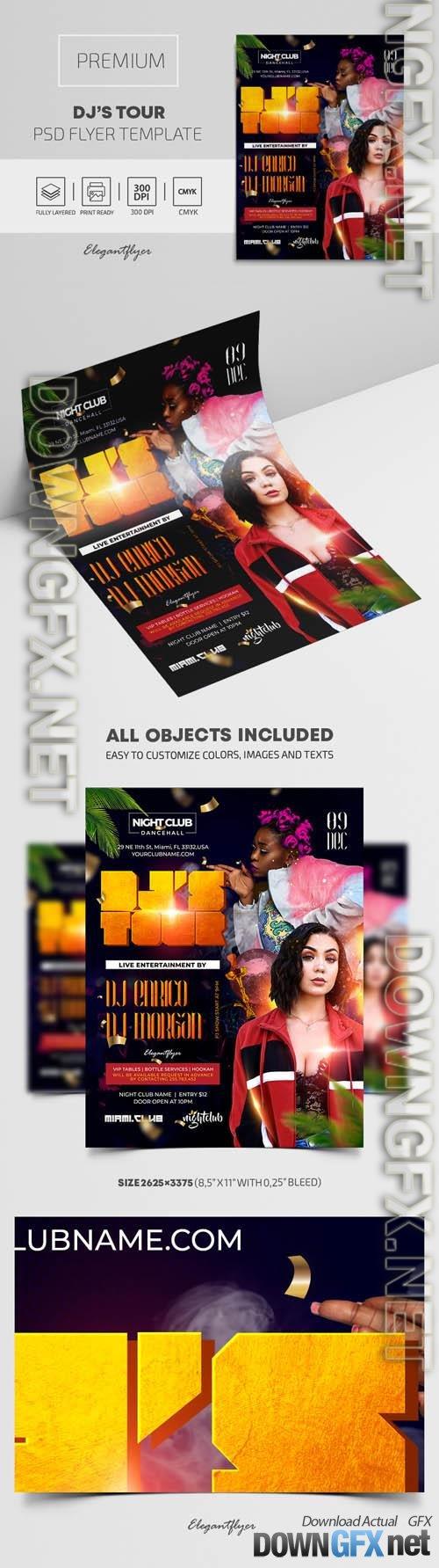 DJ Tour Premium PSD Flyer Template