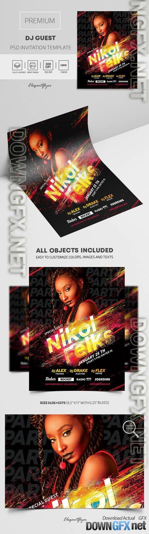 DJ Guest Premium PSD Flyer Template