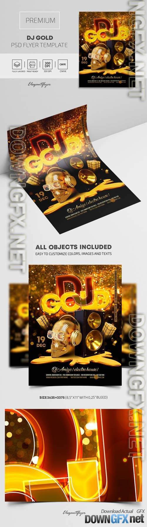 Dj Gold Premium PSD Flyer Template