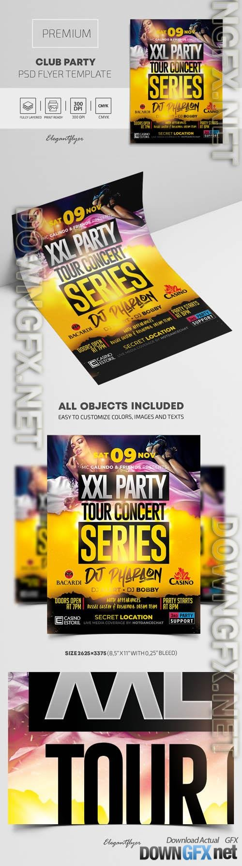 Club Party Premium PSD Flyer Template