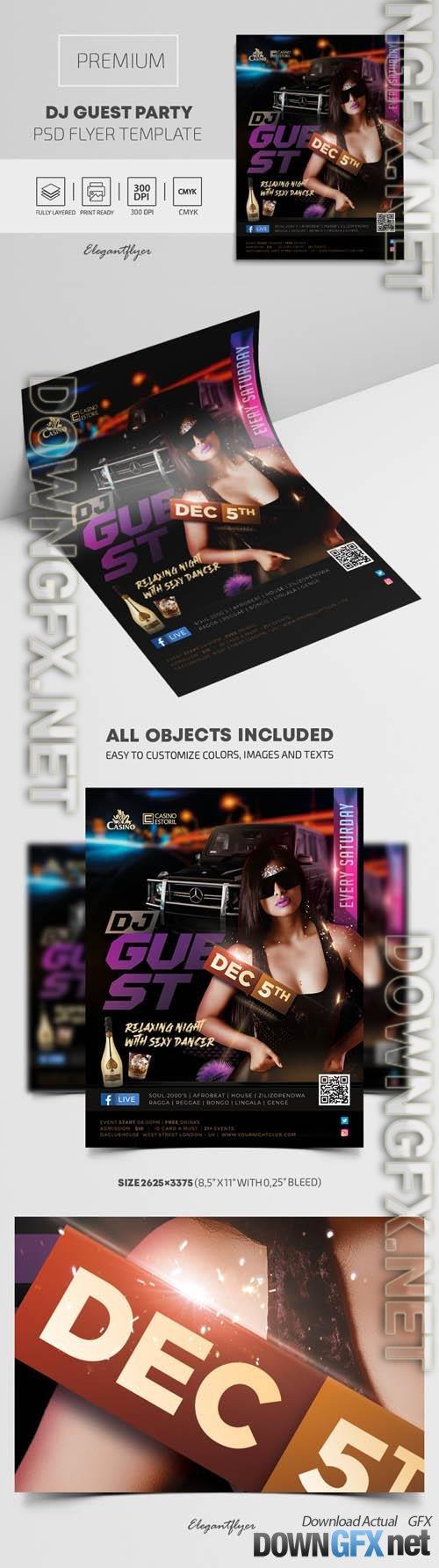 DJ Guest Premium PSD Flyer Template vol 2