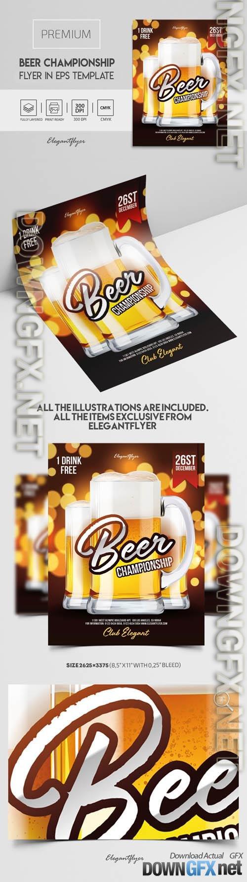 Beer Championship  Premium Vector Flyer EPS Template