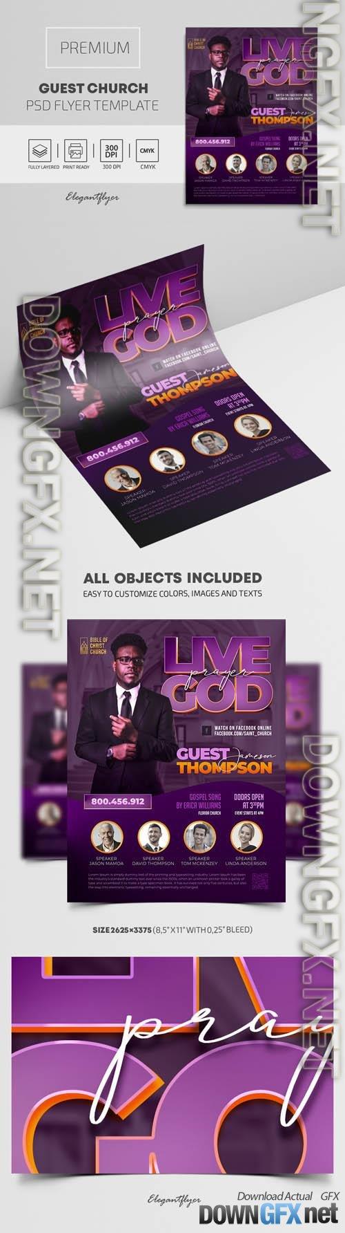 Church Guest Premium PSD Flyer Template