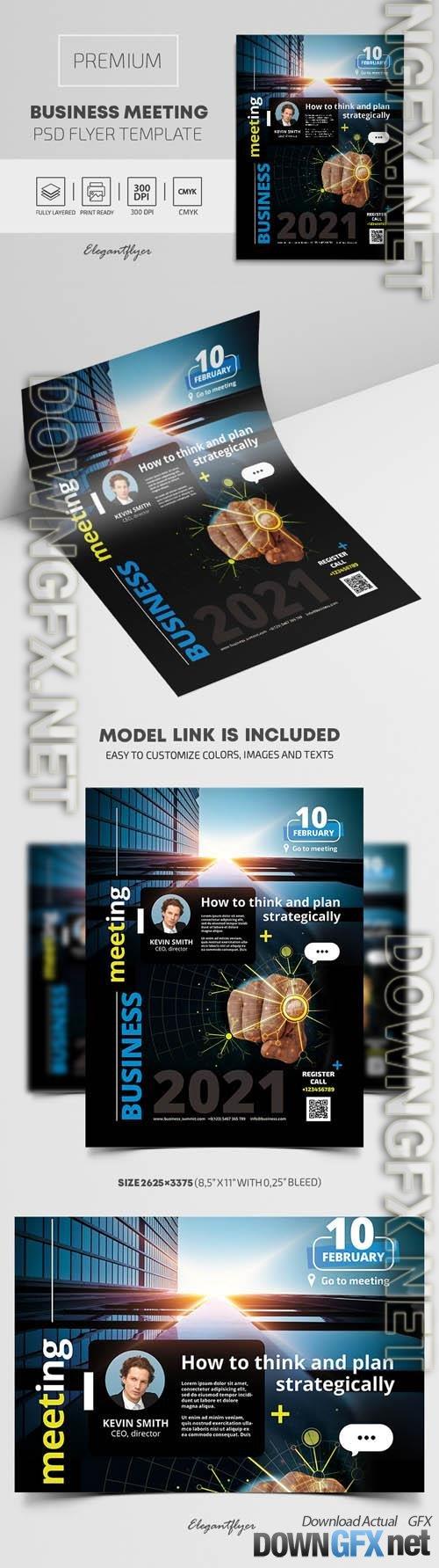 Business Meeting  Premium PSD Flyer Template