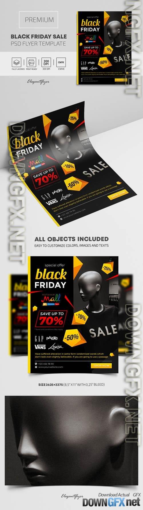 Black Friday Sales  Premium PSD Flyer Template