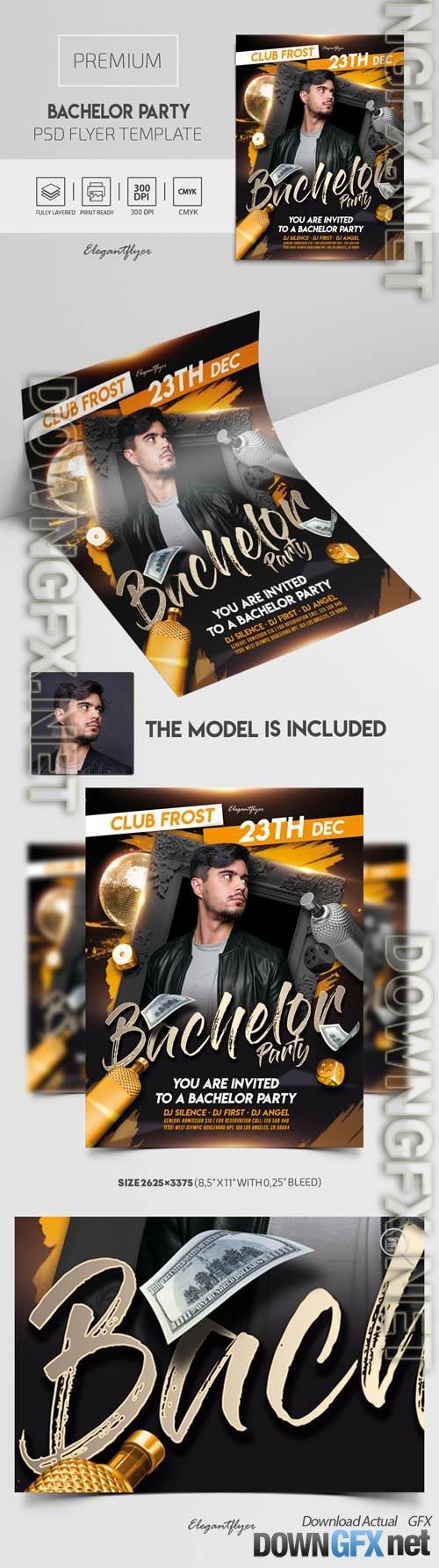 Bachelor Party Premium PSD Flyer Template