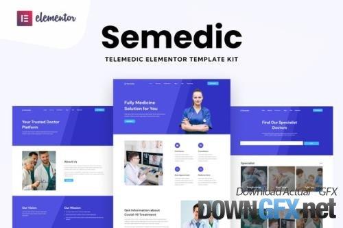 ThemeForest - Semedic v1.0.0 - Doctor Telehealth Elementor Template Kit - 33800694