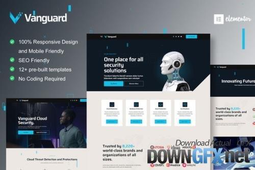 ThemeForest - Vanguard v1.0.0 - Cyber Security Service Elementor Template Kit - 33879716