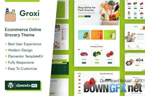 ThemeForest - Groxi v1.0.2 - Grocery Store Elementor Template Kit - 33344142