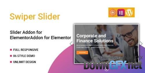 CodeCanyon - Swiper Slider Widget for Elementor v1.0.0 - 33436678