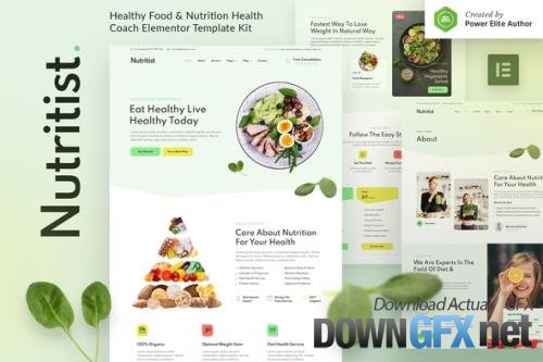 ThemeForest - Nutritist v1.0.0 - Healthy Food & Nutrition Coach Elementor Template Kit - 33959599