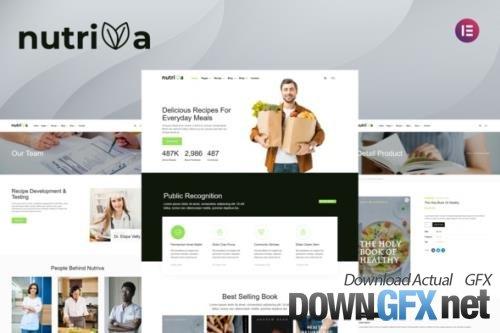 ThemeForest - Nutriva v1.0.0 - Nutrition & Recipe Elementor Template Kit - 33858934