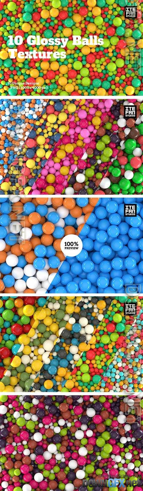 10 Glossy Balls Textures