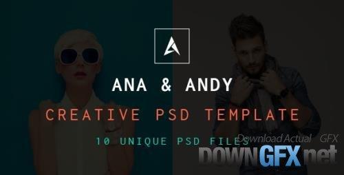 ThemeForest - Andy & Ana v1.0 - Creative PSD Template - 18036352
