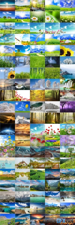 Nature, landscapes, stock photo bundle vol 1