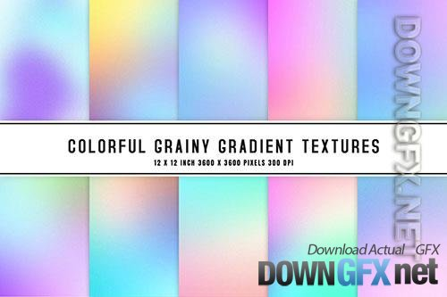Colorful Grainy Gradient Textures
