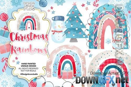 Christmas rainbow design