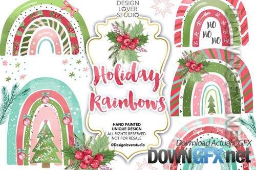 Holiday Rainbow design