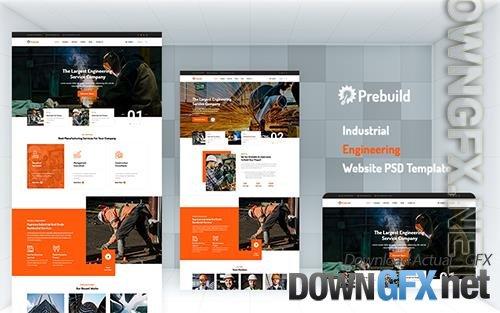 Pribuild - Industrial Engineering Website PSD Template
