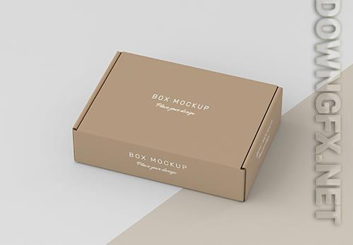 Cardboard storage box mock up
