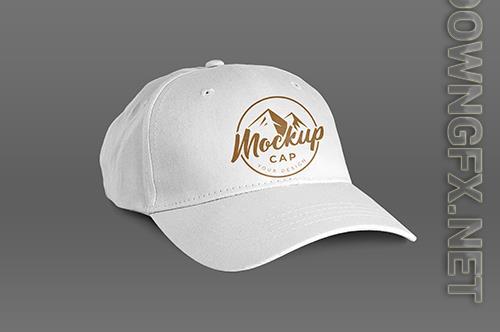 Isolated white cap mockup