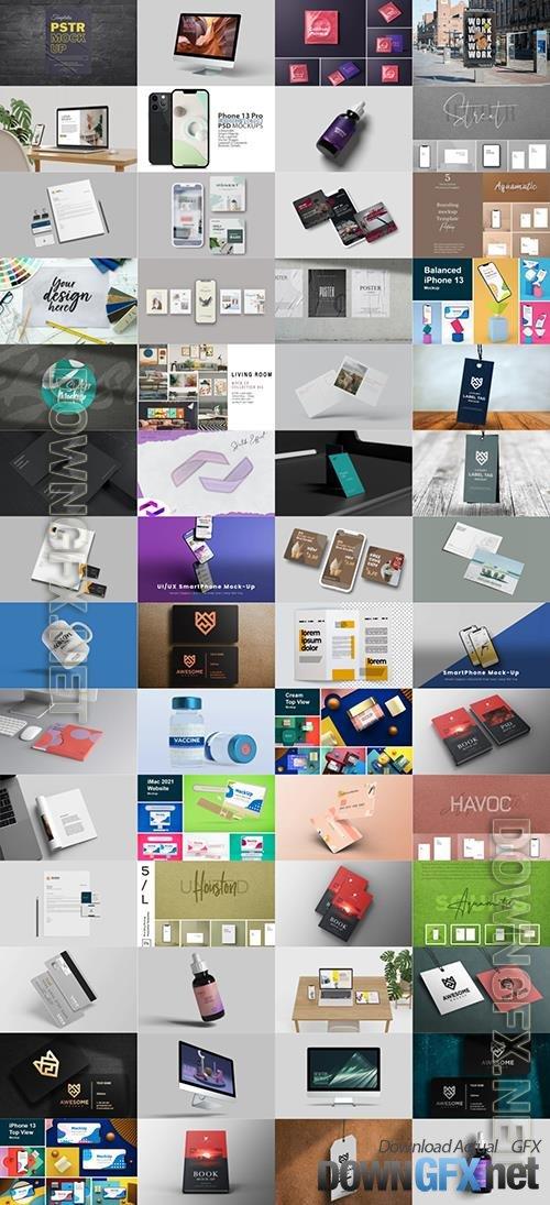 56 Different Mock-ups Bundle PSD