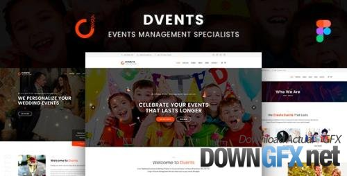 ThemeForest - Dvents v1.0 - Figma Template - 30439310