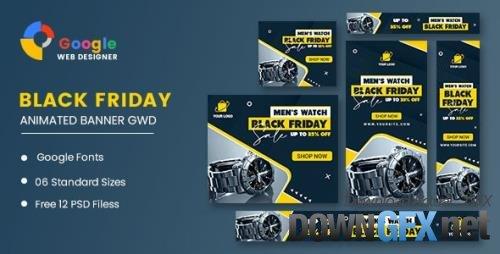 CodeCanyon - Men Watch Black Friday Sale HTML5 Banner Ads GWD v1.0 - 33969302