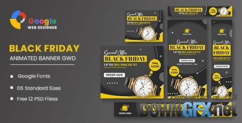 CodeCanyon - Watch Sale Black Friday HTML5 Banner Ads GWD v1.0 - 34150900