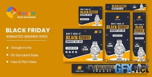CodeCanyon - Watch Sale Black Friday HTML5 Banner Ads GWD v1.0 - 34150892