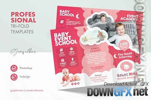 Baby Event Tri-Fold Templates